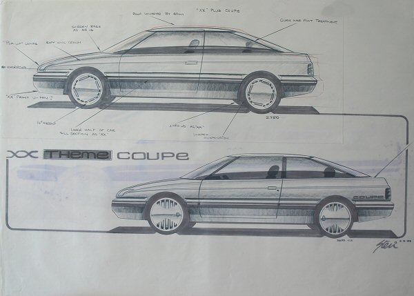 Rover 800 coupe drawings & prototypes